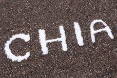 Chia słowo robić od chia sia tło Zdjęcie Royalty Free