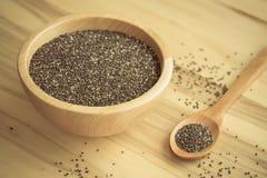 Chia-Samen gesundes superfood Lizenzfreies Stockfoto