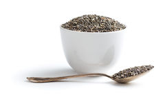 Chia-Samen im Löffel Lizenzfreies Stockbild