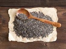 Chia-Samen mit einem Löffel Lizenzfreies Stockfoto