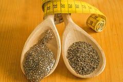 Chia-Samen und Samengelatine Lizenzfreie Stockfotografie