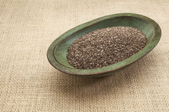 Chia seed bowl Stock Photos