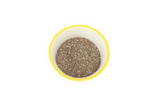 Chia seed in a bowl Stock Image
