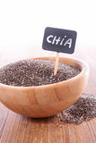 Chia seed in bowl Stock Photography