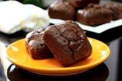 Chia Seed Brownies Royalty-vrije Stock Afbeeldingen