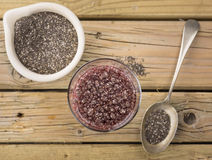 Chia seed drink Royalty Free Stock Photos