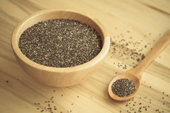 Chia seed healthy superfood. Royalty Free Stock Photo