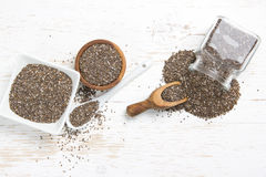 Chia Seed Heaps images stock