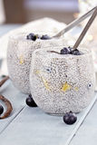 Chia Seed Pudding Royalty-vrije Stock Foto's