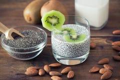 Chia Seed Pudding Fotografering för Bildbyråer