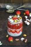 Chia Seed Pudding Imagens de Stock