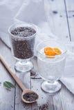 Chia Seed Pudding stockbild