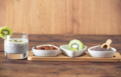 Chia seed pudding Royalty Free Stock Image