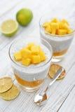 Chia seed pudding Stock Photo