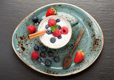 Chia seed pudding Stock Image