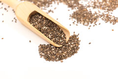 Chia seed on white Stock Image