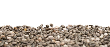 Chia seedborder on white background Royalty Free Stock Photos