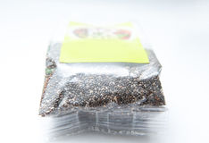 Chia seeds bag Royalty Free Stock Image