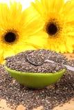Chia seeds. Beautiful shot of chia seeds Stock Photos