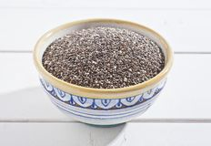 Chia seeds. In a bowl Stock Images