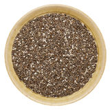 Chia seeds in a bowl royalty free stock photos
