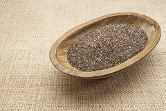 Chia seeds in bowl Stock Photography
