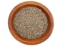 Chia Seeds In Bowl fotografie stock libere da diritti