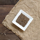 Chia seeds in bowl Stock Image