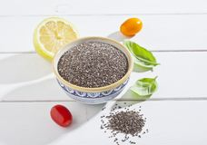 Chia seeds. In a bowl Royalty Free Stock Photography