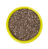 Chia seeds in a bowl isolated on white Royalty Free Stock Photography