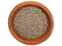 Chia Seeds In Bowl Royalty Free Stock Photos