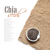 Chia seeds in bowl Royalty Free Stock Images