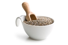 Chia seeds in bowl. On white background Stock Photography