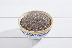 Chia seeds. In a bowl Stock Photography
