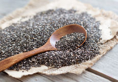 Chia seeds close up Royalty Free Stock Photo