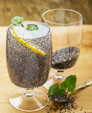 Chia seeds drink with water Royalty Free Stock Images