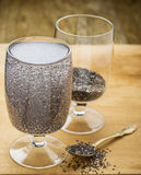 Chia seeds drink with water Stock Image
