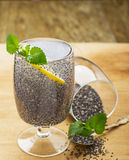 Chia seeds drink with water Stock Images