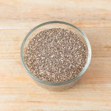 Chia seeds in glass container Stock Photography
