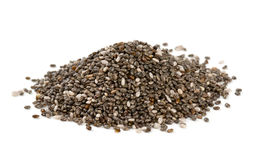 Chia seeds isolated on white. Background Stock Photo