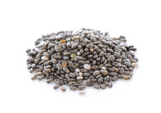 Chia seeds. Isolated with white background royalty free stock photo