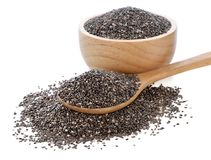 Chia seeds isolated on white. Background Royalty Free Stock Photo