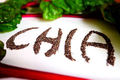 Chia Seeds Lettering Close Up Imagens de Stock Royalty Free