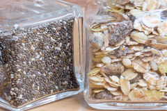 Chia seeds and muesli Royalty Free Stock Photos