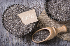 Chia seeds Stock Photo