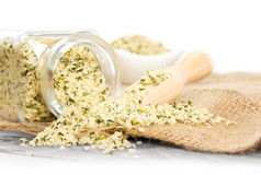 Hemp seeds Stock Image