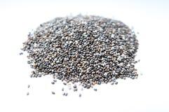 Chia seeds. Pile  on white background Stock Photo