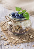 Chia Seeds Pudding Royaltyfri Foto