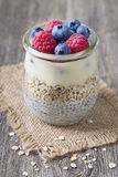 Chia seeds pudding Royalty Free Stock Photography