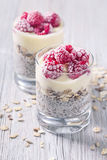 Chia seeds pudding Royalty Free Stock Photo